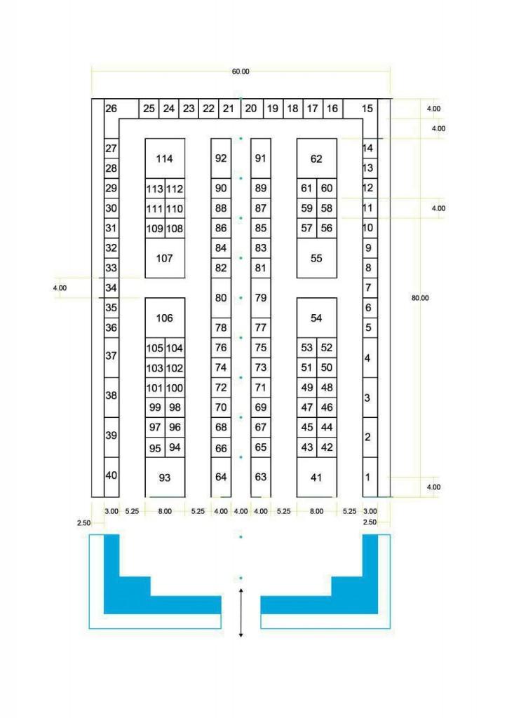 پلان دهمین نمایشگاه صنعت نساجی یزد